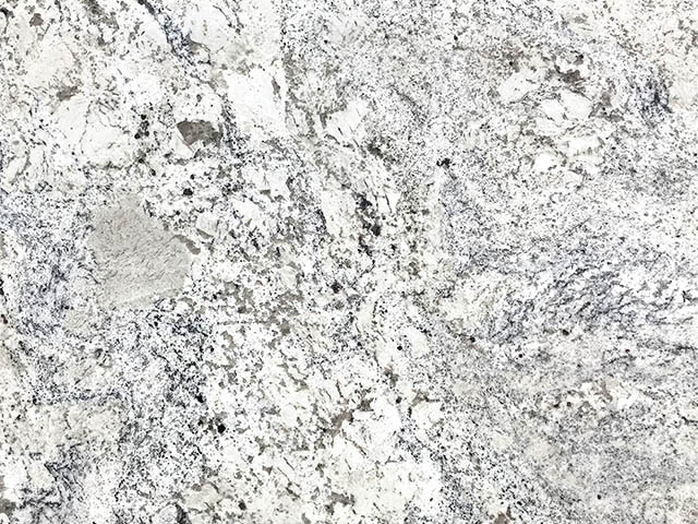 White Ice granite is a very cool, crisp, and bright white surface perfect for the modern kitchen